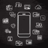 Icone bianche del telefono royalty illustrazione gratis