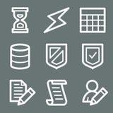 Icone bianche di Web della base di dati Immagini Stock Libere da Diritti