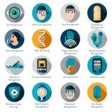 Icone biometriche di autenticazione royalty illustrazione gratis