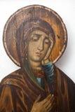 Icone bizantini fatte a mano Immagini Stock