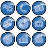 Icone blu Illustrazione Vettoriale