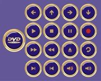 Icone blu Fotografia Stock