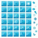 Icone blu Fotografia Stock Libera da Diritti