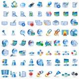 Icone blu-chiaro della rete Fotografie Stock Libere da Diritti