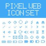 Icone di web del pixel di vettore messe Fotografia Stock