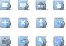 Icone blu di Web site e del Internet di vettore. Fotografie Stock Libere da Diritti