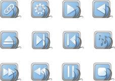 Icone blu di Web site e del Internet di vettore. Fotografia Stock