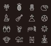 Icone brasiliane illustrazione di stock