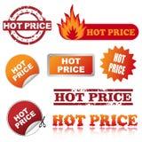 Icone calde di prezzi illustrazione di stock