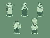 Lavoratori del ciclo alimentare Fotografie Stock