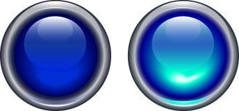 Icone chiare blu Immagine Stock