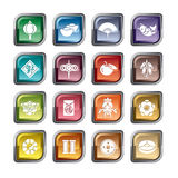 Icone cinesi del nuovo anno illustrazione di stock