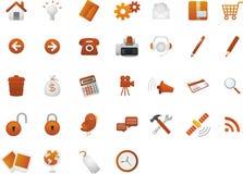 Icone classiche di Web Fotografie Stock