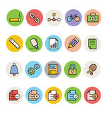 Icone colorate di base 8 di vettore Immagini Stock