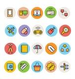 Icone colorate di base 11 di vettore Fotografie Stock Libere da Diritti