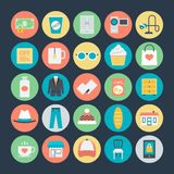Icone colorate di compera 4 di vettore royalty illustrazione gratis