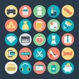 Icone colorate di compera 3 di vettore illustrazione vettoriale