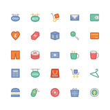 Icone colorate di compera 9 di vettore Immagini Stock Libere da Diritti