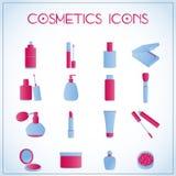 Icone cosmetiche Immagini Stock Libere da Diritti