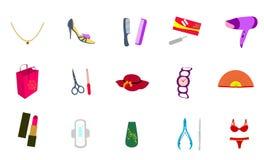 Icone cosmetiche per il disegno di Web Fotografia Stock Libera da Diritti