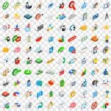 100 icone creative di idea hanno messo, stile isometrico 3d Fotografie Stock Libere da Diritti