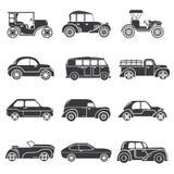 Icone d'annata dell'automobile Immagine Stock