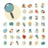 Icone d'annata messe per l'interfaccia utente Immagini Stock