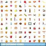 100 icone d'approvvigionamento messe, stile del fumetto illustrazione di stock