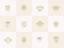 Icone d'avanguardia dei pantaloni a vita bassa dello schermo geometrico illustrazione vettoriale