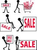 Icone da vendere Immagini Stock