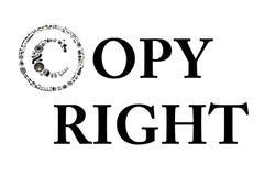 Icone de Copyright avec des pièces d'auto pour la voiture Photo libre de droits