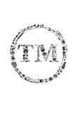Icone de marque déposée avec des pièces d'auto pour la voiture Photos libres de droits