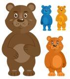 Icone decorative degli orsacchiotti messe illustrazione vettoriale