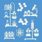 Icone decorative di chimica messe royalty illustrazione gratis