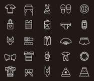 Icone degli accessori e dei vestiti Immagine Stock