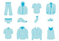 Icone degli accessori e dei vestiti Fotografia Stock