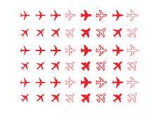 Icone degli aerei Fotografie Stock