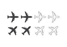 Icone degli aerei Immagine Stock Libera da Diritti