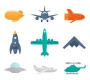 Icone degli aerei piane Immagine Stock Libera da Diritti