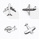 Icone degli aeroplani Immagini Stock Libere da Diritti