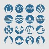 Icone degli alberi Fotografie Stock