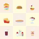 Icone degli alimenti a rapida preparazione Royalty Illustrazione gratis