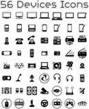 Icone degli apparecchi elettronici Fotografia Stock