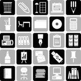 Icone degli articoli per ufficio Immagine Stock