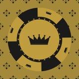 Icone degli elementi di progettazione del casinò Giochi del casinò Ace che gioca c Fotografia Stock