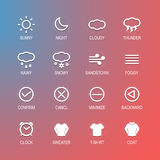 Icone degli elementi di progettazione di UI Immagini Stock