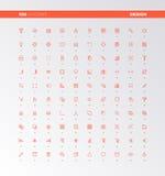 Icone degli elementi di progettazione di UI UX royalty illustrazione gratis