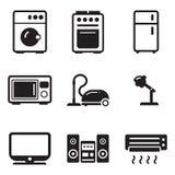 Icone degli elettrodomestici Fotografie Stock