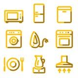 Icone degli elettrodomestici illustrazione di stock