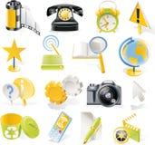 Icone degli oggetti di vettore impostate. Parte 3 Fotografia Stock Libera da Diritti